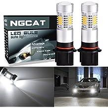 ngcat Auto bombilla LED 2pcs P13W DRL antiniebla Luz de repuesto 283521SMD chipsets coche conducción luces de conducción diurna, Xenon Blanco, 10–16V 10,5W