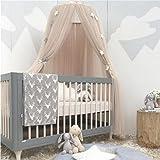 Yosoo Betthimmel/Moskitonetz, Baumwolle, zum Prinzessin-Spielen, Zelt, Lesehöhle, für Mädchen / Babys, für drinnen und draußen, Höhe 240cm