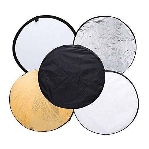 Andoer® 5 en 1 Portable plegable reflector de luz de estudio Fotografía (110cm)