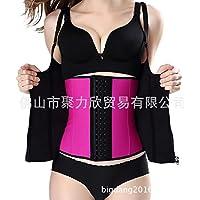 HL-El cuerpo natural correas de zipper cremallera doble hebilla cinturón quilla antes de abdomen cinturón,Rosa,XXXL