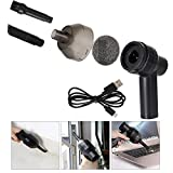 lzn Mini USB Rechargeable Vacuum Cleaner Computer Keyboard Brush Nozzle Dust Collector Handheld Sucker Clean Kit