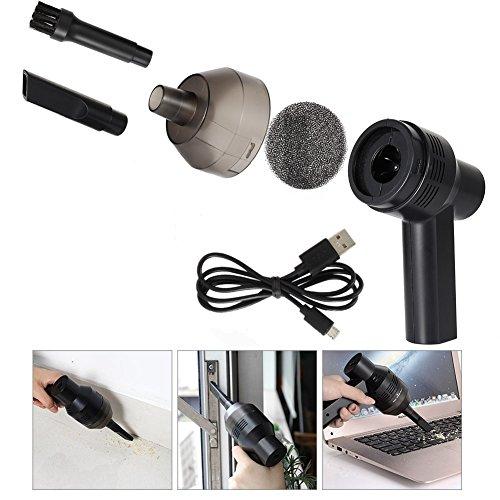 Coomir Mini USB Aspiradora Recargable Teclado de Computadora Cepillo Boquilla Colector de Polvo Kit Leche de Mano Limpia