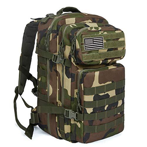 Zaino tattico militare mimetico da esterno, piccolo zaino da 3 giorni per l'assalto di Molle Assault per escursionismo, escursionismo, campeggio, trekking, cimici fuori borsa e viaggio,Camouflage