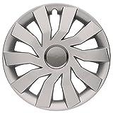 CM DESIGN ROCK GREY EYE Silber/Grau 13 Zoll, passend für fast alle VW z.B. für Lupo 6E