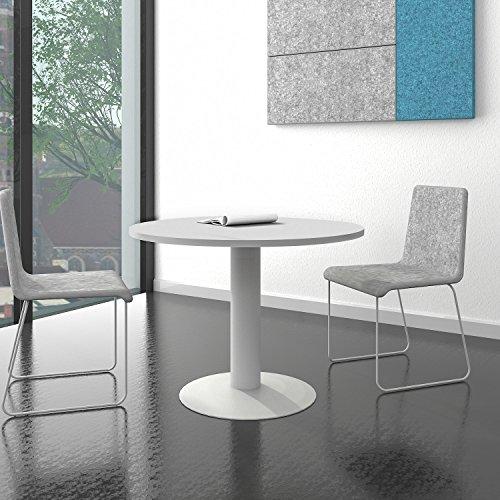 OPTIMA runder Besprechungstisch Esstisch Küchentisch Tisch Lichtgrau Rund Ø 100 cm