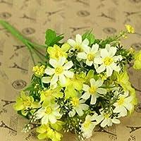 HuntGold Wedding Party Home Decor Artificial Fabric Lot Chrysanthemum Bouquet Stem Flower(yellow)