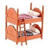 Homyl 1/12 Puppenhaus Schlafzimmer Möbel Miniatur Etagenbett Stockbett Doppelstockbett