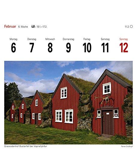 Livres Couvertures de Island - Kalender 2017: Sehnsuchtskalender, 53 Postkarten