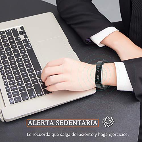 Imagen de pulsera de actividad inteligente, sumergible reloj deportivo ip67 smartwatches cómodo con pantalla táctil longitud ajustable para hombres y mujeres alternativa