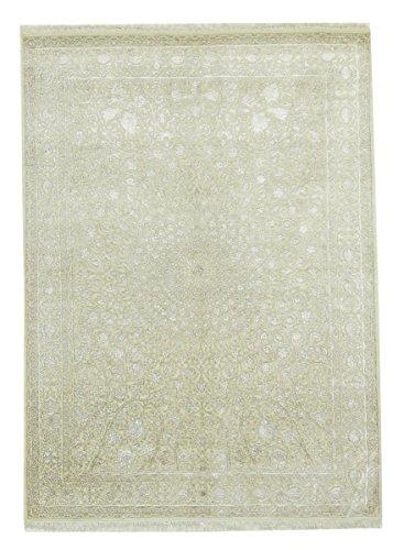 Tabriz Orientalische Teppiche (Indo Täbriz Gombad Teppich Orientalischer Teppich 242x177 cm, Indien Handgeknüpft Klassisch)