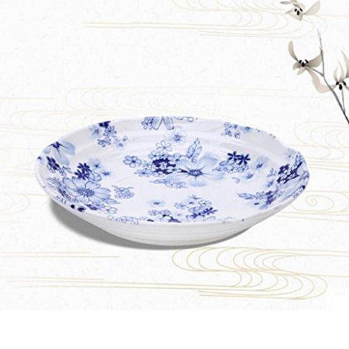 MXJ61 Vaisselle Soup Bowl Face Bowl Grande Soupe À Domiculaire Bassin Bol De Riz Dessert Bowl Céramique Diamètre 21.7cm