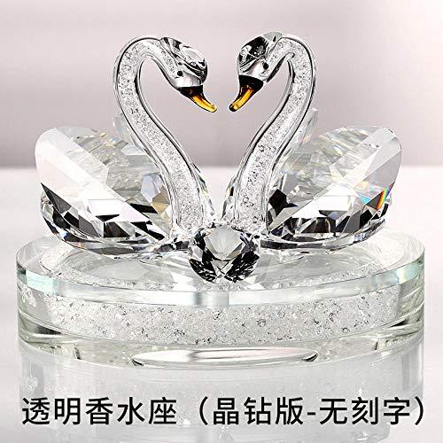 KOONNG Kristall Glas Tier Figur Dekoration Ornament Skulptur Auto Crystal Swan Car Parfüm Sitz Auto Mit Weiblichen Kreativen Autodekoration Liefert Auto Schmuck Ornamente -