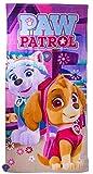 Nickelodeon Paw Patrol Hunde Skye und Everest Kinder, Mädchen Strandtuch, Badetuch, Handtuch für zu Hause oder den Urlaub am Meer, 140 x 70cm
