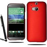 HTC One M8modelo 2014duro híbrido carcasa + Protector de pantalla + Stylus