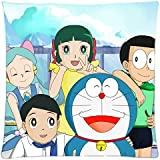 Doraemon personalizadas Rectángulo casa decorativa cama fundas de almohada 18x 18pulgadas–ruckey wone