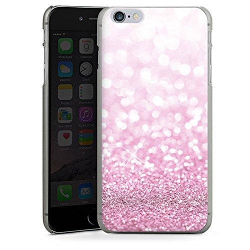 Apple iPhone X Silikon Hülle Case Schutzhülle Glitzer Look Pink Glanz Hard Case anthrazit-klar