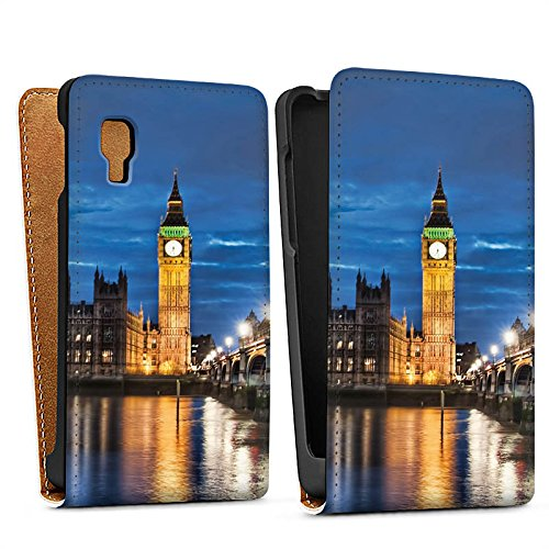 LG Optimus L4 II E440 Tasche Schutz Hülle Walletcase Bookstyle London England Big Ben