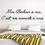stickers muraux chambre ado fille Mon Bonheur À Moi C'Est Nos Moments A Nous Pour Le Salon Chambre