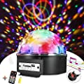 Disco Lights Ball SOLMORE 9 Colors LED Disco Light Party Stage Lights Music Activated Rotating Effect Lights Indoor Decoration Wedding Festival Celebration Karaoke Bar Show U Disk/USB Interface