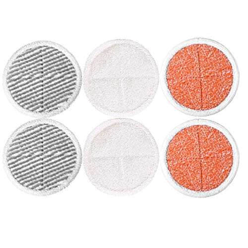 Zealing mop 6pezzi di ricambio per bissell spinwave 2039a 2124(incluse 2soft pad + 2scrubby pads + 2heavy scrub pads)