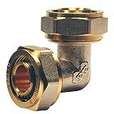 EasyFIX Winkel 90° Schraubfitting Klemmringverschraubung DVGW für Mehrschichtverbundrohr Winkel 90° (20 mm)
