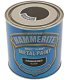 Hammerite HAM6720101 250ml Metal Paint - Hammered Black