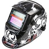 FIXKIT Careta para Soldar Casco de Soldadura Máscara para Soldar de Energía Solar de Oscurecimiento Automático y Ajustable (cráneo)