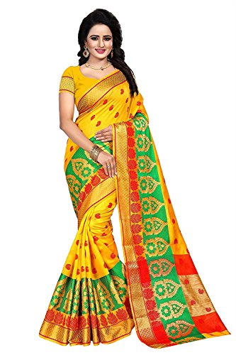 Shiroya Brothers Women's Cotton Silk Partywear New Collection Saree With Blouse Piece...