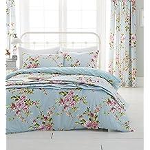 Catherine Lansfield - Juego de funda de edredón y fundas de almohada para cama de matrimonio grande, multicolor