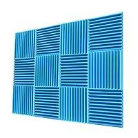 "Acoustic Foam Panels 1""x12""x12"" Sound Proof Padding Soundproofing Studio Foam Wedges (24 Square Feet)"