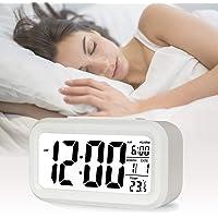 AOI Réveil numérique sans Fil à Piles avec Date, température, lumière du capteur Intelligent, 12/24 Heures, répétition…