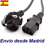 Cable de Alimentacion SCHUKO Corriente Ordenador Portatil PC Monitor Enchufe CPU LCD