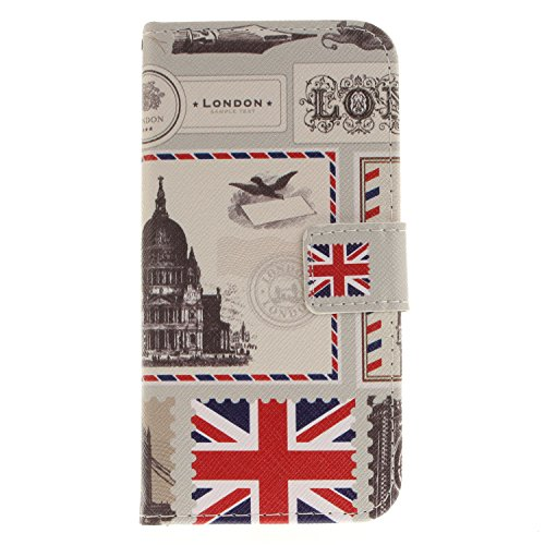 Apple iPhone X hülle, Voguecase Kunstleder Tasche PU Schutzhülle Tasche Leder Brieftasche Hülle Case Cover (Mathematik Formel) + Gratis Universal Eingabestift UK Stamp