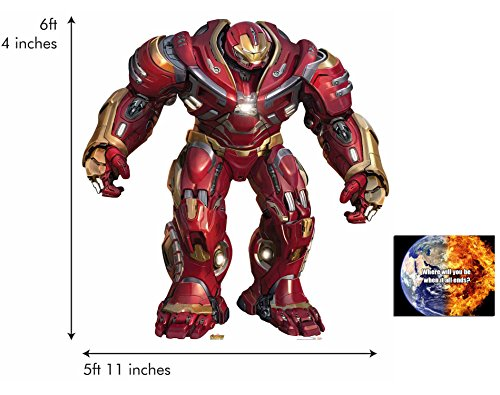 BundleZ-4-FanZ by Starstills Hulkbuster 2.0 Avengers Infinity War Riese Größe Pappaufsteller mit 25cm x 20cm foto