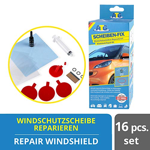 ATG Kit de reparacion de parabrisas - repara cristal grietas, roturas, arañazos - Reparacion lunas coche