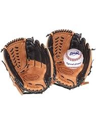 Louisville Slugger Gants + balle pour receveur de baseball Junior Cuir/noir/blanc 30 cm