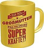 RAHMENLOS Original Kaffeebecher für die Oma: Ich Bin Großmutter, was sind Deine Superkräfte? Im Geschenkkarton 2619