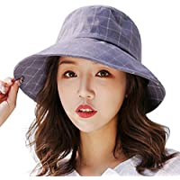 Yesmile Sombrero Sombrero de Pescador Mujer Cómodo Sombrero de Lavabo Sombrero de Pescador Visera Casual Gorra Plegable