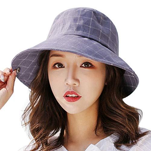 Produp Women 's Hut bequem Basin Hut Fischer Hut lässige Visier zusammenklappbar Cap würdevoll und großzügig Nizza und komfortable ()