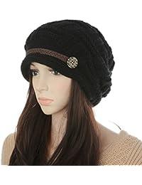 Demarkt Femmes Bonnet Crochet Chapeau Hiver Tricoté Cap Fille Béret Taille Unique Multicolore