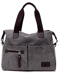 Damen Canvas täglich Handtasche Umhängetasche für Reise Shopping