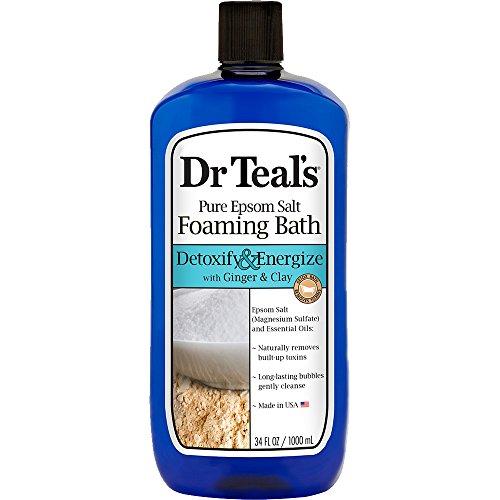 Dr Blaugrün 's Pure Epsom Salz Schäumendes Bad Entgiften und trainieren mit Ingwer und Ton, 1Liter -