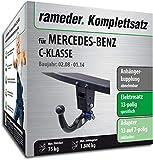 Rameder Komplettsatz, Anhängerkupplung abnehmbar + 13pol Elektrik für Mercedes-Benz C-KLASSE (113670-06224-4)