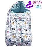 HEAVEN'S Care Blue Apple ZIPPER 3 In 1 Baby Bed Cum Bedding Set/ Baby Carrier/ Baby Comfo Sleeping Cum Carry Bag Baby Sleeping Bag Cum Baby Carry Bag