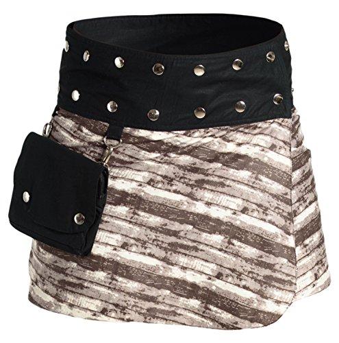 b6921db50 ufash Minifalda en Colores de Moda con Botones automáticos, Estampado 14