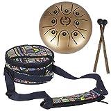 """supertop Mini Steel Percussion Instrument - ideal für Camping, Yoga, Meditation, Musiktherapie - D Akebono Pentatonic mit Free gepolsterte Reisetasche Zungentrommel 8"""""""