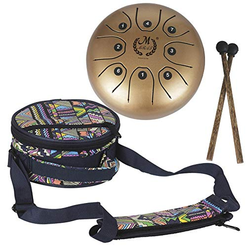 MMBAT Mebite Steel Tongue Trommel Handpan Brahma 5,5 Zoll Mini Glückliche Trommel Musikinstrument Mit Sticks Und Nationalen Stil Tasche - Geld Hängen