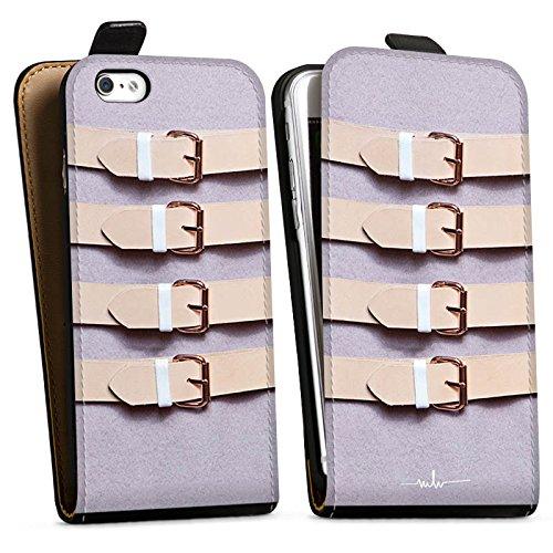 Apple iPhone X Silikon Hülle Case Schutzhülle Schnallen Flieder Leder Mode Downflip Tasche schwarz