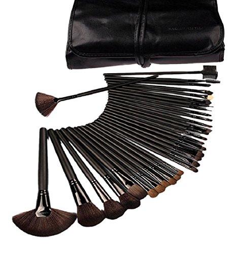 Ularma 32pcs maquillage cosmétique professionnel Brush Set Etui cuir synthétique Kit