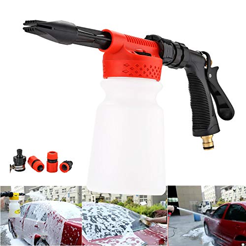 Waschen Gun Sprayer Schaumlanze, Snow Foam Lance, Auto Reinigung Schaumstoff Lanze 900 ml Für Auto-Garten-Reinigung - Gun Reinigung